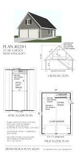 Workshop Garage Plans 2 Car Steep Roof Garage Plan With Storage 1224 1 24 U0027 X 34 U0027 By Behm