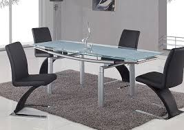 galaxy furniture chicago il frosted glass u0026 silver dining table