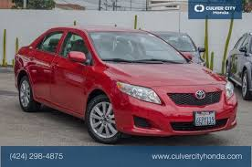 toyota corolla 2009 maintenance schedule pre owned 2009 toyota corolla le 4d sedan in culver city h7662t