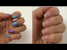 how to remove gel nail polish at home easily diy youtube