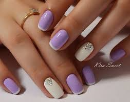 lavender french nail design nails pinterest french nails