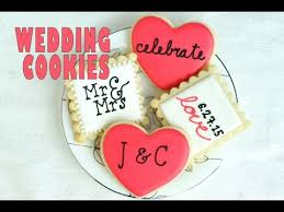 wedding cookies piping letters on cookies haniela u0027s youtube
