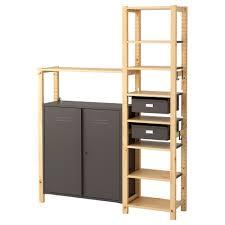 Ivar Ikea | ivar 2 section shelving unit w cabinet ikea