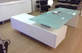 Modern Glass Top Desk Modern Glass Desks Desk L In Executive Plan 7 Willothewrist