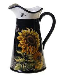 sunflower kitchen canisters certified international sunflower meadow 3 pc canister set