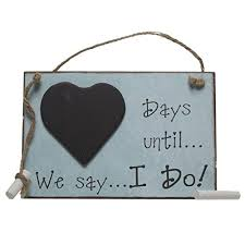 Wedding Countdown Days Until We Say I Do Chalkboard Wedding Countdown By Gifts To