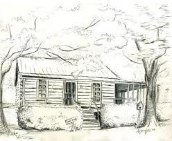 log cabin drawings log cabin sketch flyoung studio