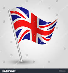 vector 3d waving english flag on stock vector 227873023 shutterstock