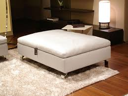 White Fur Ottoman by Rectangle White Leather Ottoman Plus Storage Under It Combined