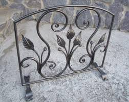 Fireplace Metal Screen by Fireplace Screen Etsy