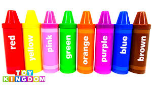 best learn colors giant crayons sorting pencils toy surprises