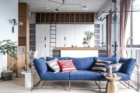 Denim Furniture Living Rooms This Studio Apartment In Hong Kong Is Big On Style Nonagon Style