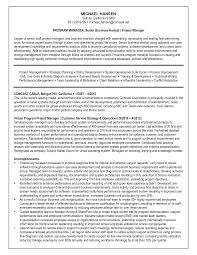 Credit Analyst Resume Objective Systems Analyst Resume Samples System Analyst Resume Sample