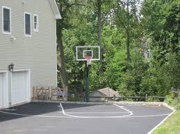 awesome backyard basketball court dimensions a 4807 homedessign com