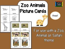 zoo animal picture cards a to z teacher stuff printable pages