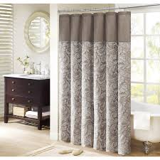 Overstock Shower Curtains Madison Park Whitman Jacquard Faux Silk Shower Curtain Free