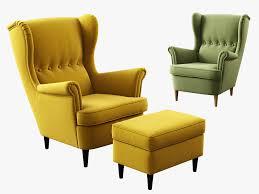 Ikea Strandmon Armchair 3d Model Ikea Strandmon Wing Chair Ottoman 3d Model 3d