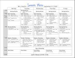 6th grade lesson plan template
