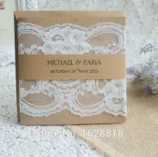 Wedding Invitations Kits Handmade Wedding Souvenirs Card Wedding Favor Cards Lace Design
