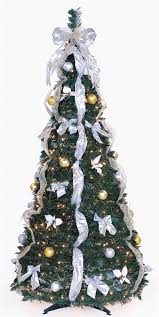 6 ft pre lit pop up decorated collapsible tree 350 clear