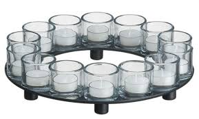 encore candle holder centerpiece tealight candleholders by crate