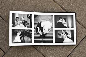wedding photo album books like the black and white spread wedding photos i like