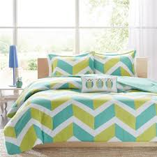 lime green aqua white modern girls teen geometric chevron