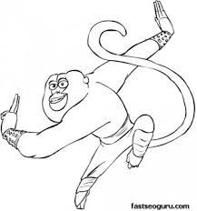 printable kung fu panda master monkey coloring pages printable
