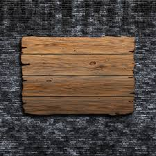 3d render of an wooden sign photo free