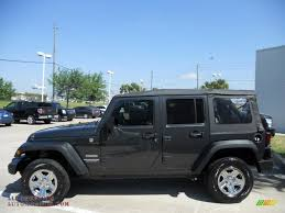 dark gray jeep 2010 jeep wrangler unlimited sport 4x4 in dark charcoal pearl