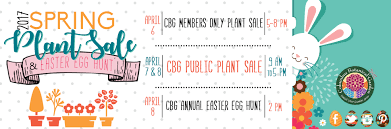 easter egg sale cbg plant sale and easter egg hunt columbus botanical garden