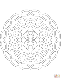 abstract mandala coloring page free printable coloring pages