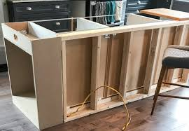 how to build a base for cabinets to sit on how to build a diy kitchen island house by the bay design
