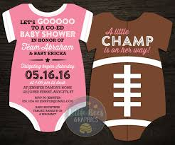 Baby Boy Football Clothes 10 Powderpuff Football Baby Shower Invitations All Star