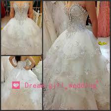 com buy newly romantic luxury wedding dress 2014 sequined beaded