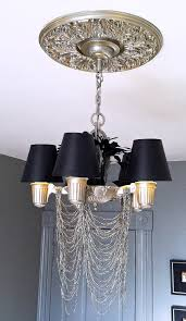 the diy bedroom re do chic rock star glam the ceiling light
