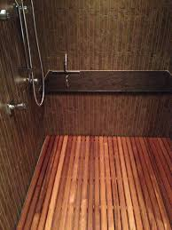 custom teak shower mat 13329