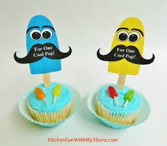 father u0027s day popsicle cupcakes with free printable kitchen fun