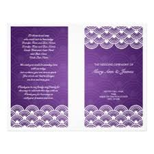 elegant wedding purple program templates family wedding flyers