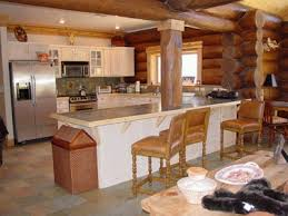 Log Home Kitchen Cabinets - log home photos of kitchens