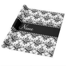 damask wrapping paper black white damask 2 label bow wrapping paper black and