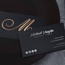 luxury business card bronzesilver foil print graphtype com