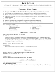 teachers resume template resume templates elementary school resume