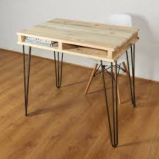industrial hairpin leg desk reclaimed industrial pallet office desk hairpin legs by sunnyside