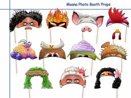 photo booth props unique moana printable photo booth props by holidaypartystar on