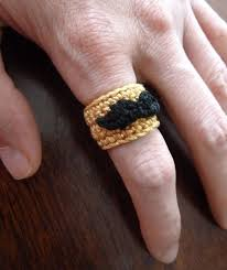 free pattern movember mustache ring book people studio