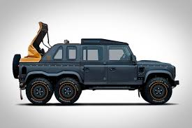 range rover defender 2018 play u0027twister u0027 in the back of this stretched open top land rover