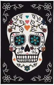 Mohawkhome Amazon Com Mohawk Home Aurora Sugar Skull Dia De Los Muertos Area