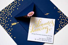 navy wedding invitations navy gold foil calligraphy wedding invitations