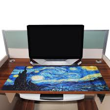 giant mouse pad for desk van gogh s the starry night giant mouse mat fanduco